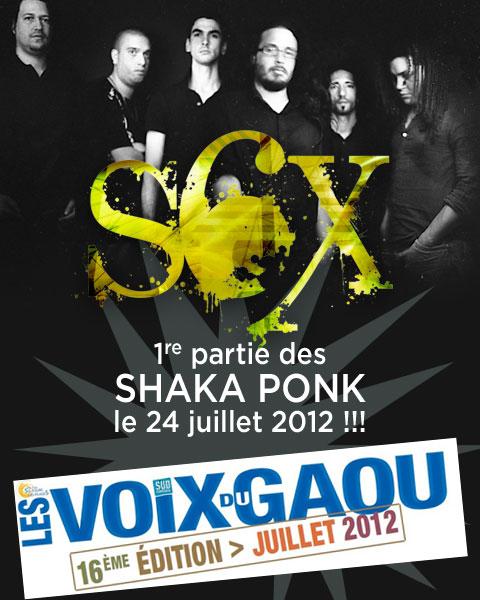 Retrouvez les S6X en première partie de Shaka Ponk aux Voix du Gaou 2012